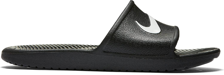 Nike Herren Kawa Shower Dusch-Badeschuhe  50.5 EU|Schwarz (Black / White 001)