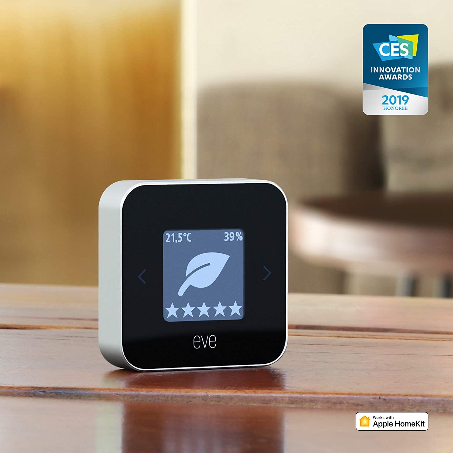 1c0347072a9745 Eve Room - Indoor Air Quality Monitor for tracking VOC