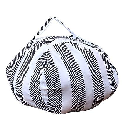 Remarkable Amazon Com Orchidamor Toy Storage Bag Filled Turns Bean Bag Creativecarmelina Interior Chair Design Creativecarmelinacom