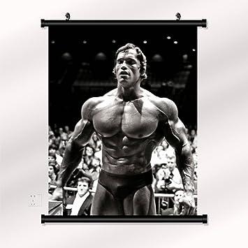 Arnold Schwarzenegger Format TOP-Qualit/ät! 80x60 Leinwandbild