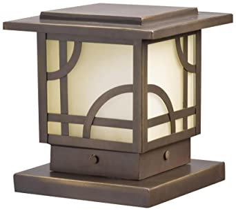 Kichler Lighting 15474OZ Larkin Estate Post Light 12 Volt Deck And Patio  Light, Olde