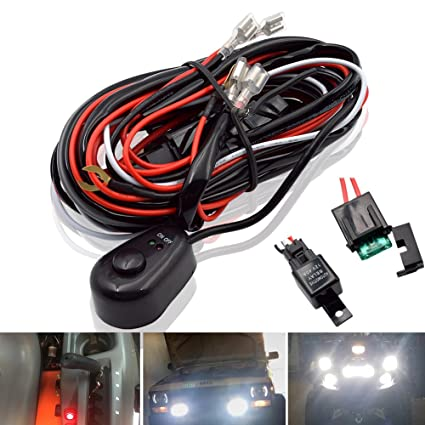 Superb Amazon Com Safego Led Light Bar Relay Wiring Harness Controller Wiring Database Gramgelartorg