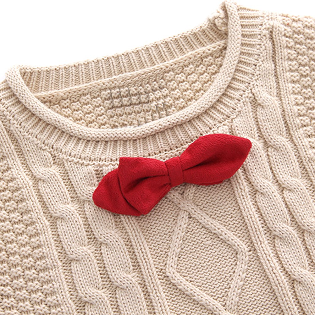 Elfin Park Baby Boys Cotton Kintted Sweater Vest Ornamental Tie