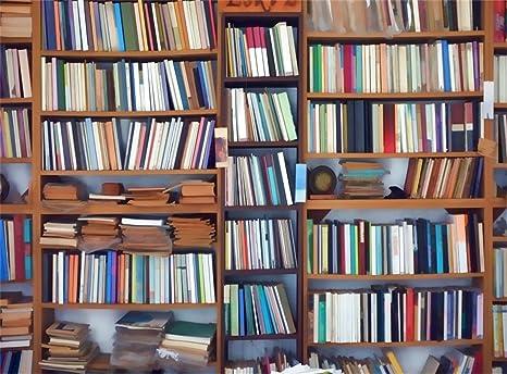 Leowefowa 9x6ft Bookshelf Backdrop School Library Interior Study Room Books Backdrops For Photography Interior Decoration Wallpaper Students Children