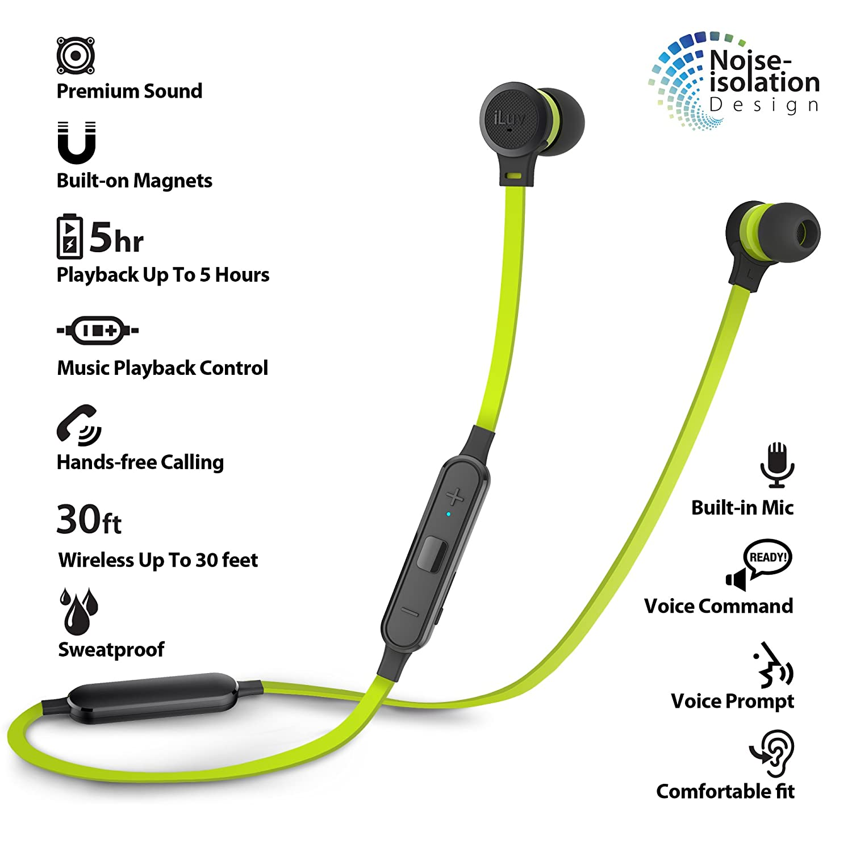 iLuv Wireless Bluetooth Tangle-Free Stereo In-Ear: Amazon co uk