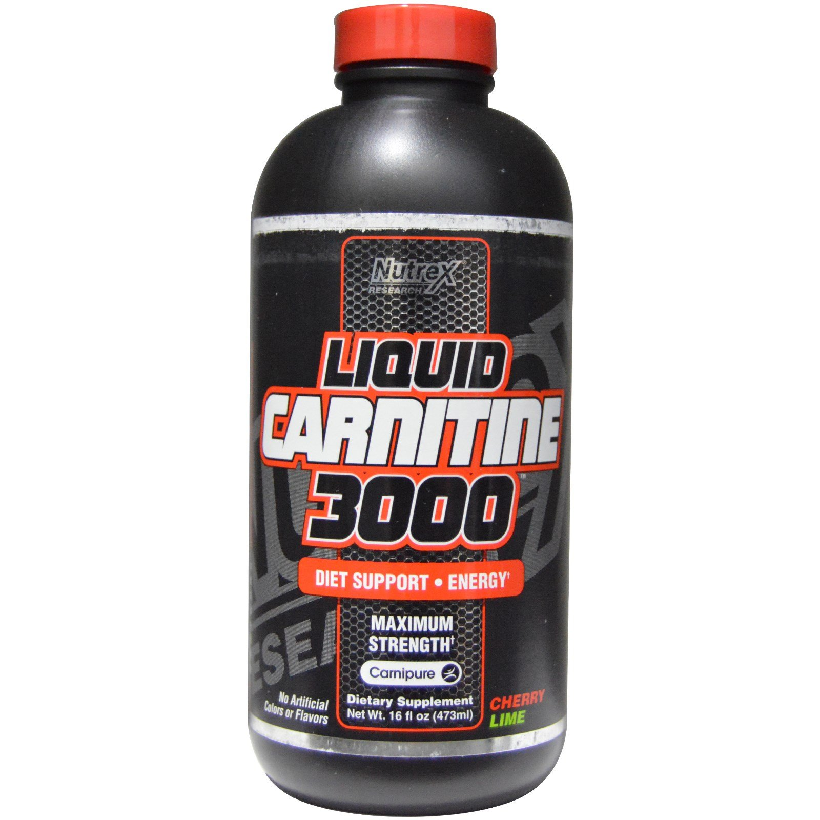 Nutrex Research Labs, Liquid Carnitine 3000, Cherry Lime, 16 fl oz (473 ml) - 2pc