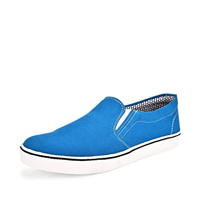99bc2402098378 Backmesh Men s Sky Blue Canvas Casual Loafer Shoes  Buy Online at Low Prices  in India - Amazon.in