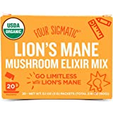 Four Sigmatic Lion's Mane Mushroom Elixir (20 Count) – Paleo, Vegan, Organic - Concentration & Focus