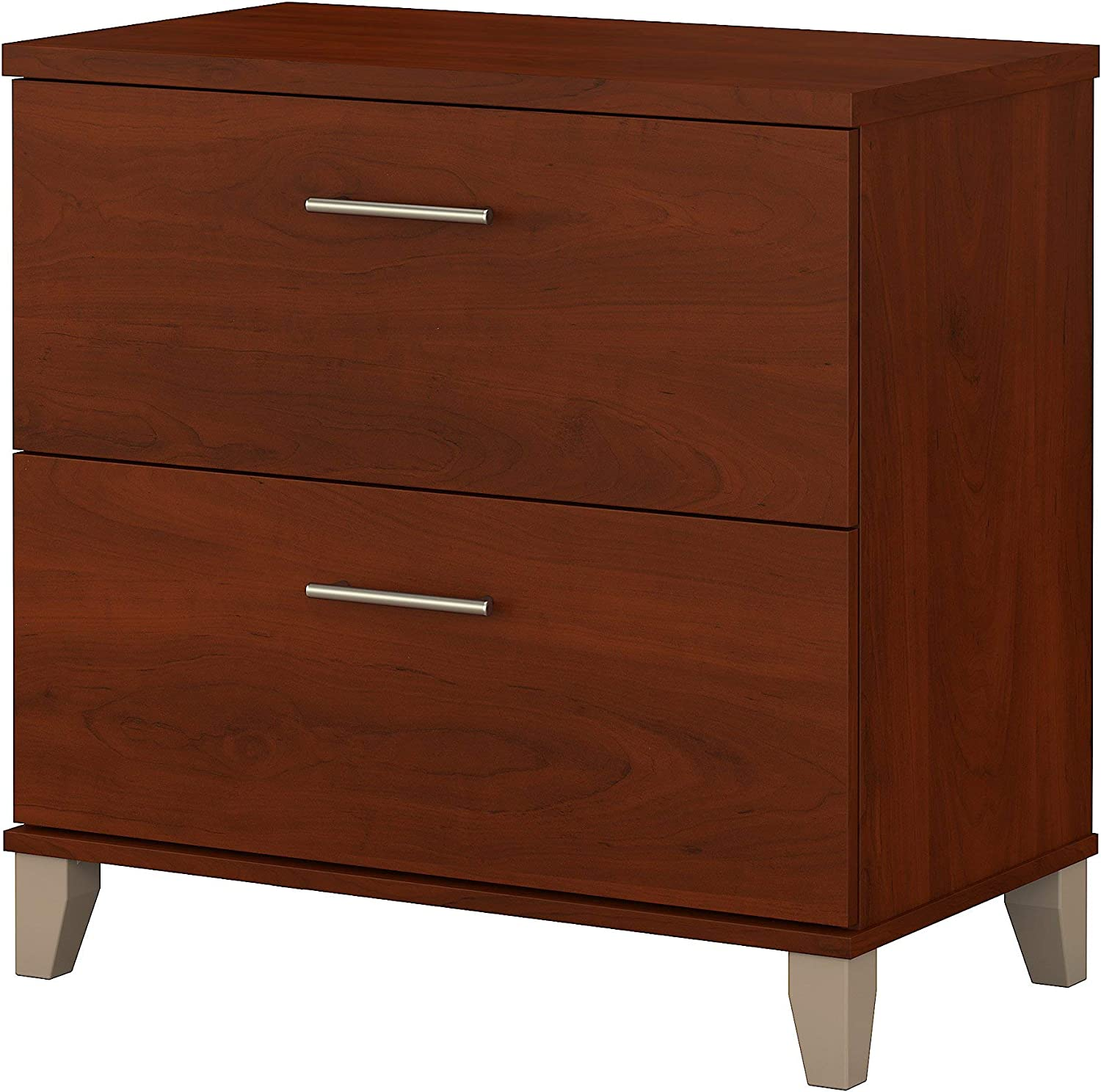 Bush Furniture Somerset Lateral File Cabinet in Hansen Cherry