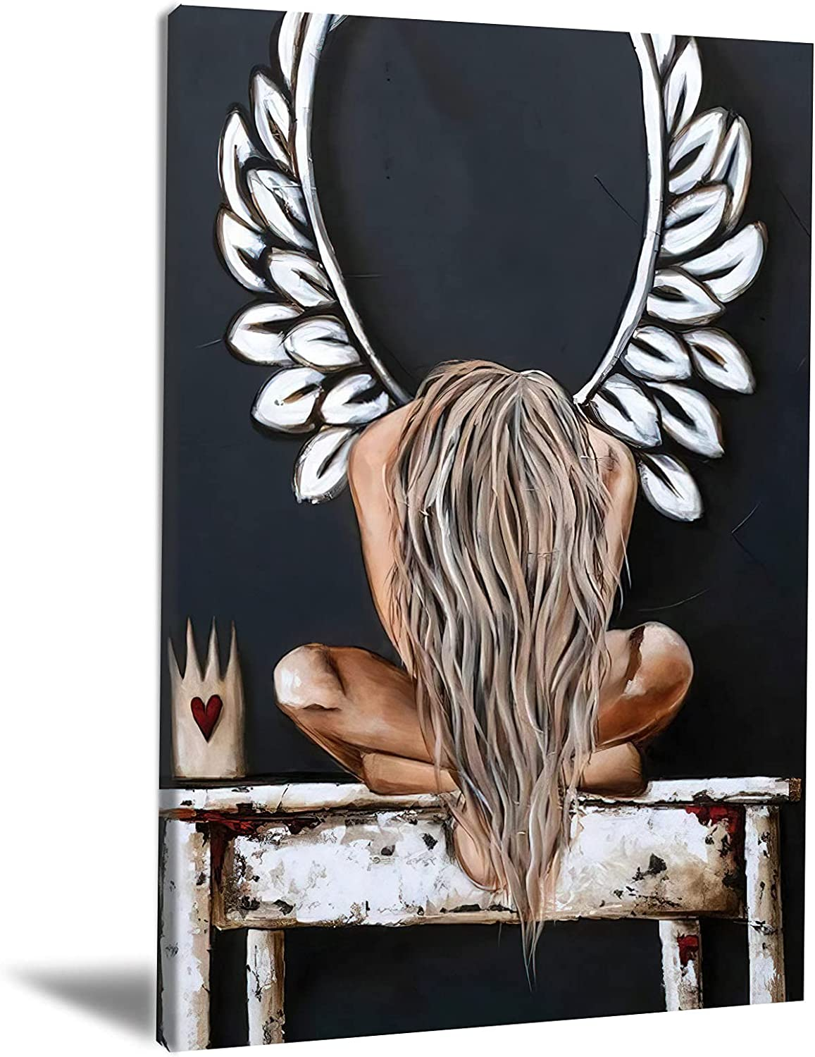 Angels Art Wall Decor Fantasy Weeping Angel Wings Wall Pictures Print The Darkest Days Wall Art Pictures Posters and Prints Artwork Decor for Living Room Bedroom Office No Frame