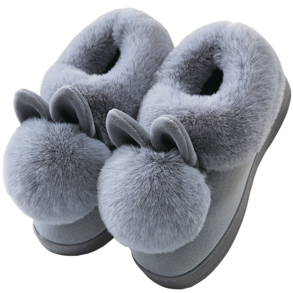 JACKSHIBO Womens Fur Home Casual Slippers,Soft Winter Warm Cute Cartoon House Slippers by JACKSHIBO (Image #2)