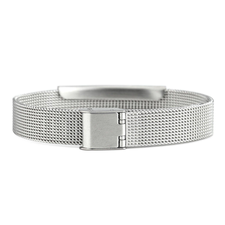 En liquidation conception de la variété prix de gros BAIYI Stainless Steel Mesh Medical Alert ID Bracelets for Men and Women  Adjustable Size (Free Engraving)
