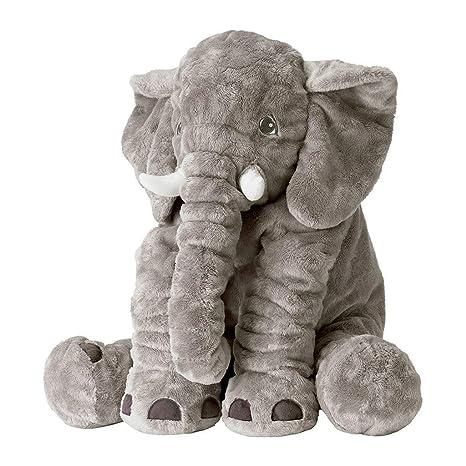 HEMFV Elefante Almohada Novedad Animal Felpa Suave Niños ...