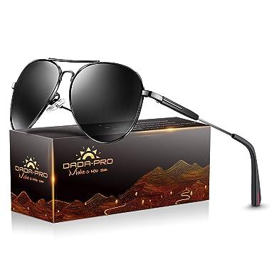 9883a1495290 Mens Sunglasses Pilot Polarized Women Sun glasses - Dada-Pro Brand Designer  Mirrored Retro Pilot Shades for Cycling Driving Golf, 100% UV 400  protection ...