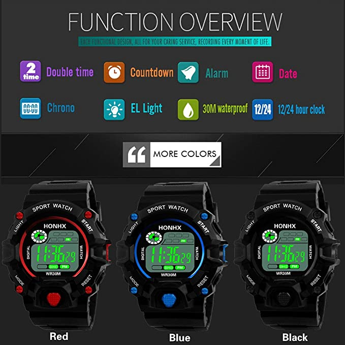 ... DYTA LED Sport Wrist Watches 5ATM Water Resistant Outdoor Watch on Military Quartz Watchs with Rubber StrapSilicone Case Relojes De Hombre: Electronics