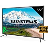 "TD Systems K55DLM8US - 55"" Smart TV UHD 4K (Resolución Ultra HD 4K, 3X HDMI, VGA, USB Reproductor y Grabador, TV Led Tdt HD DVB-T2)"