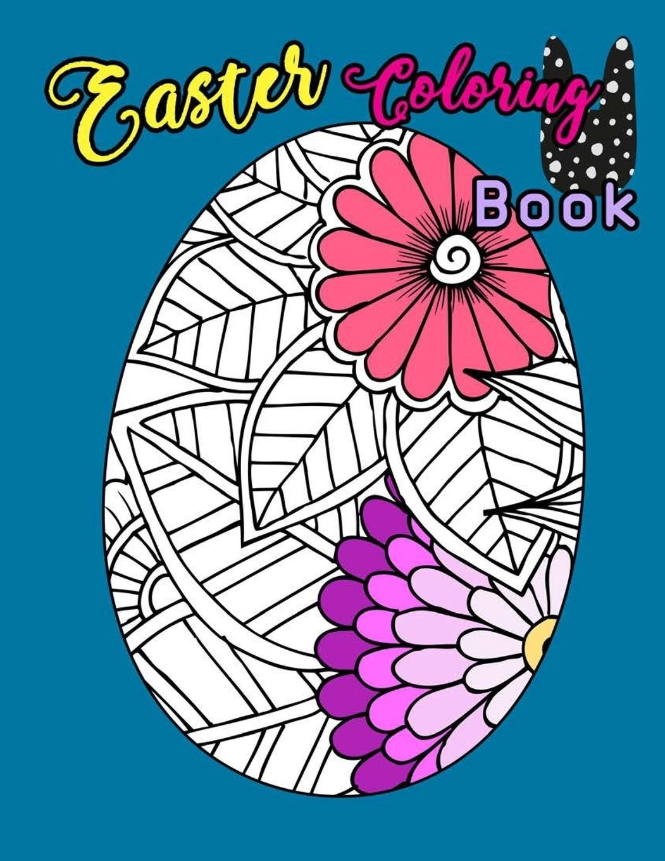 - Easter Coloring Book: Egg Easter Coloring Book Pages Large Print