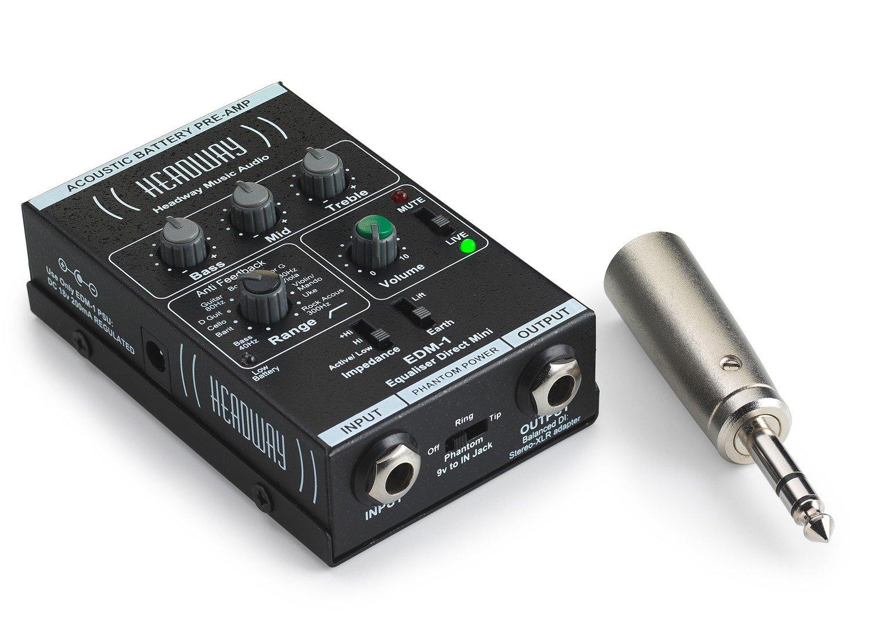 HEADWAY EDM-1アコースティック楽器用コンパクト?プリアンプDI【国内正規品】 B015FP77XC