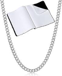 eb468bd32f766b .925 Sterling Silver Cuban Link Curb Chain, 3mm-14.5mm Necklace/Bracelet .