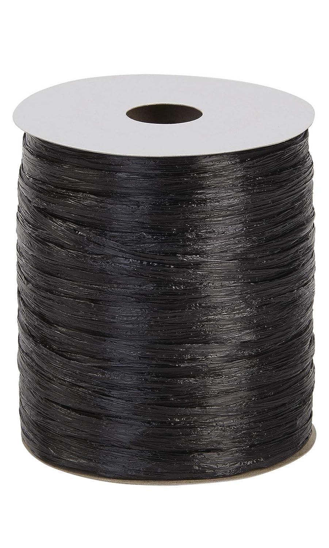 1//2W x 100 Yds Black Pearlized Raffia Pack of 2 Per Roll