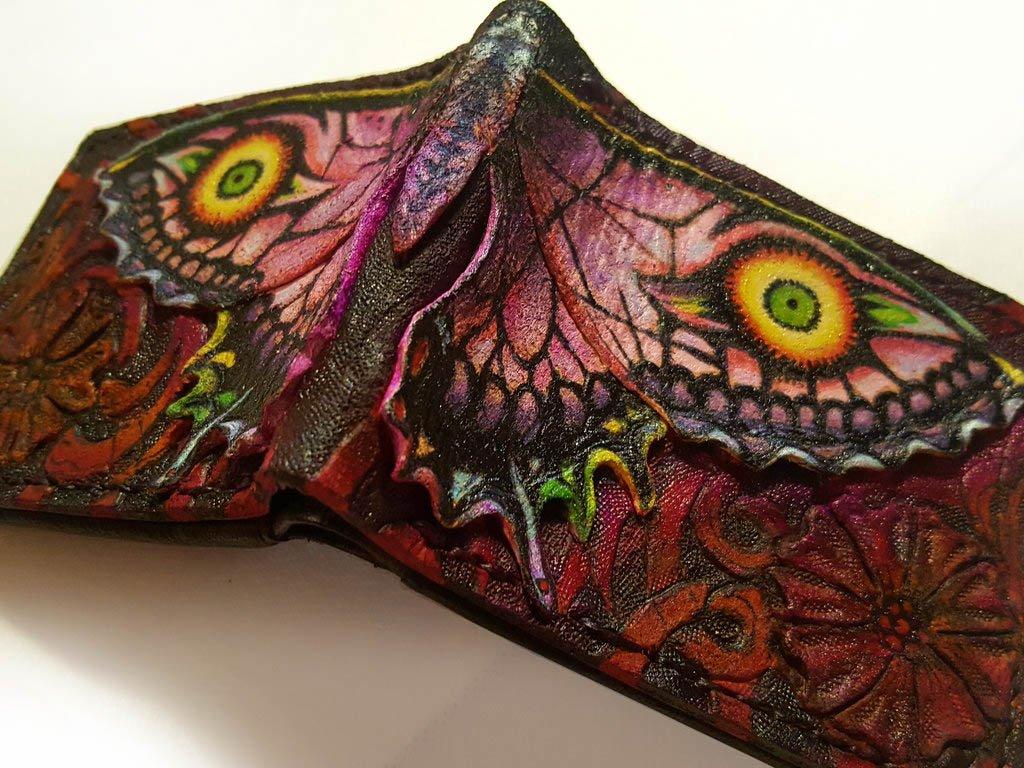 Majora's Ghost Butterfly - Zelda inspired leather wallet