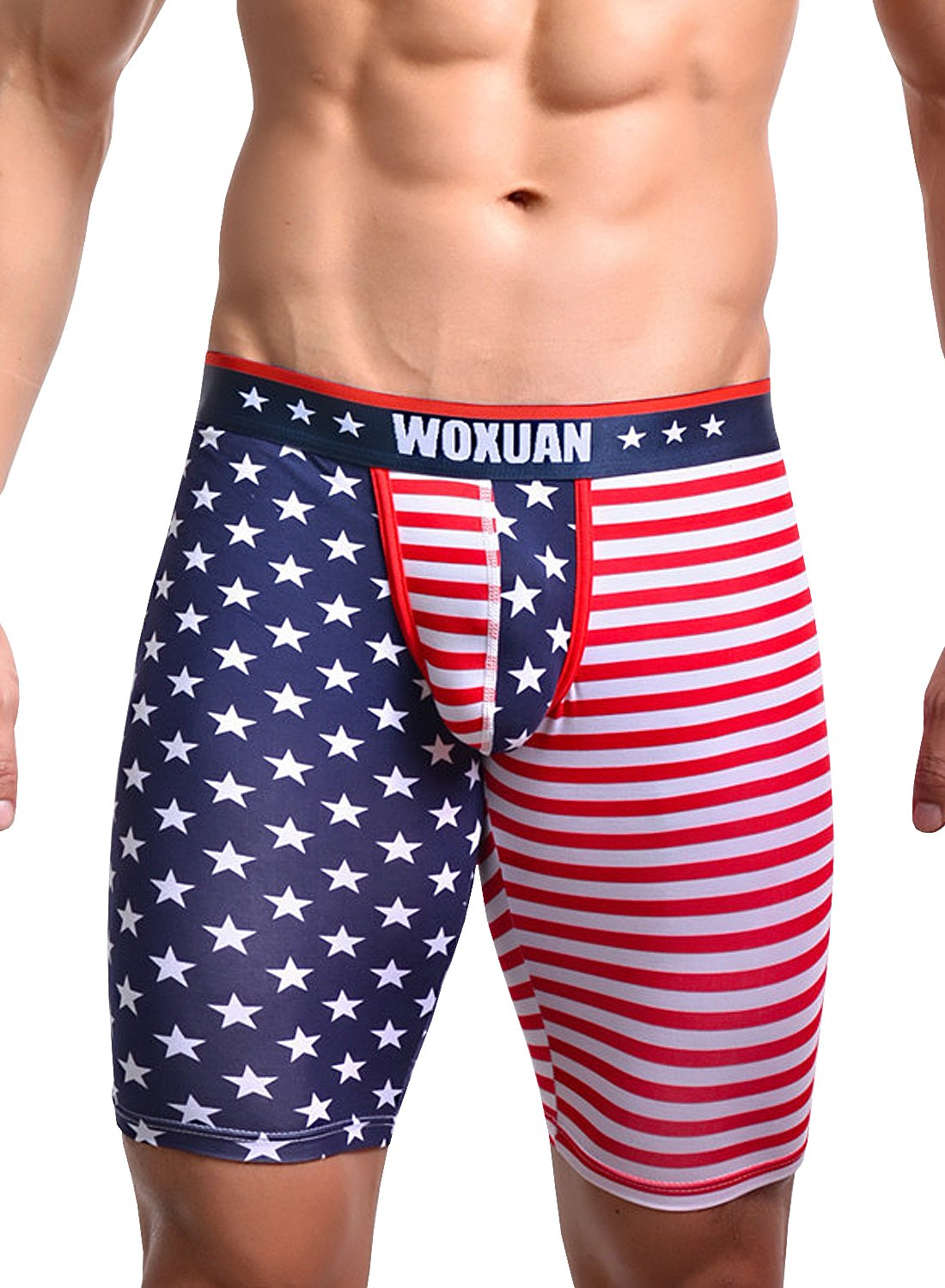 Men¡¯s American Flag Compression Shorts Running Workout Gym Yoga Workout Tight Shorts (Size,XL)