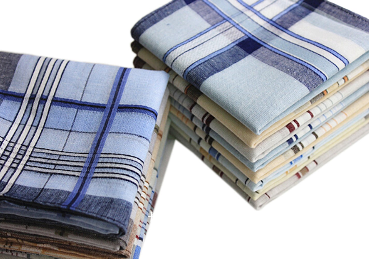 USM Mens Classic Woven Cotton Striped Handkerchiefs Hankies Pack