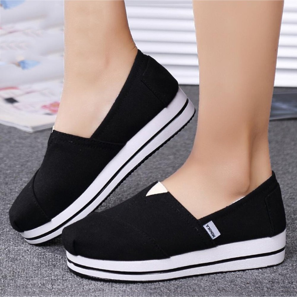 Color : A, Size : 37 XUEXUE Womens Shoes Canvas Spring Fall Loafers /& Slip-Ons Driving Shoes Fitness Shake Shoes Shake Shoes Shaking Shoes Flat Loafers Sneakers Athletic Shoes Platform Shoes