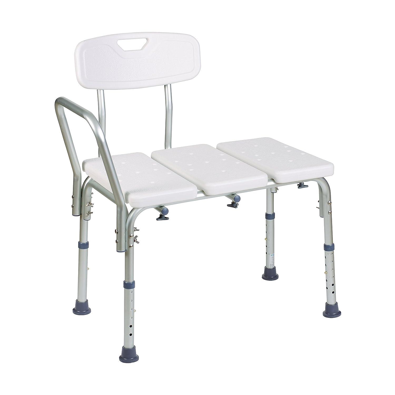HealthSmart ヘルススマート 補助椅子 シャワー用椅子 調整式レッグ付き 抗菌保護対応   B006IP4598