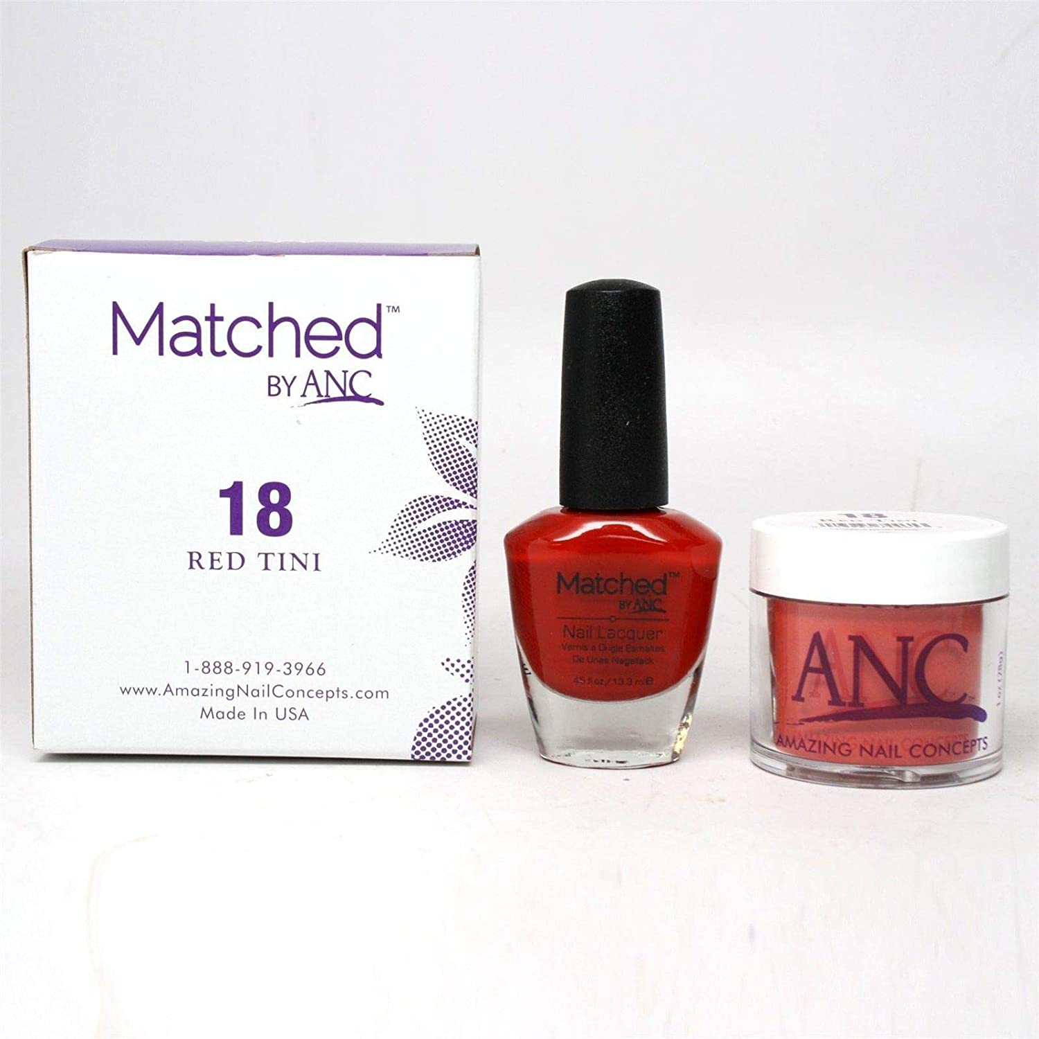 ANC Amazing Nail Concepts Matched kit # 18 Red Tini