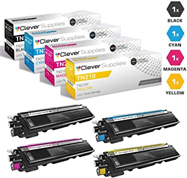 4pk NEW TN-210 TN210 BLACK Toner Cartridge for Brother