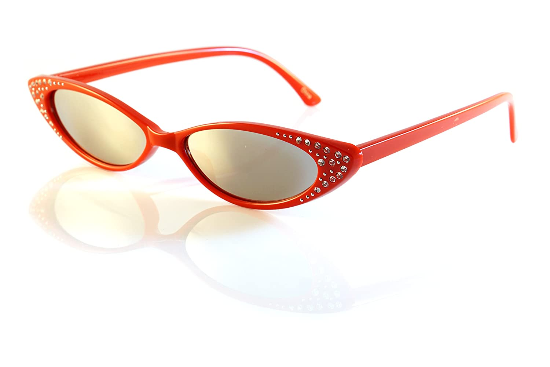 d928aff78fb75 Amazon.com  FBL  90s Vintage Extreme Wide Slim Rhinestone Cat-Eye  Sunglasses A202 (Black Purple GR)  Clothing