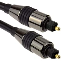 ATZ TOSLink Optical Digital Audio Cable 6mm lead w/Gold connectors 1 Meter,1m