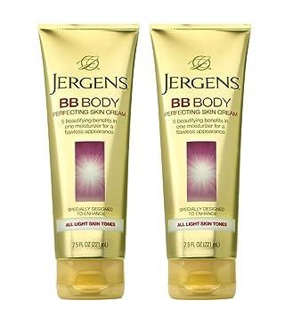Jergens BB Body Skin Perfecting Cream, All Medium Deep Skin Tones 7.50 oz (Pack of 3) Massage Candle Exotic Green Tea