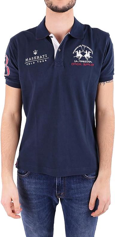 La Martina Hombres Camisa Polo de Piqué Maserati Vlad Marina ...
