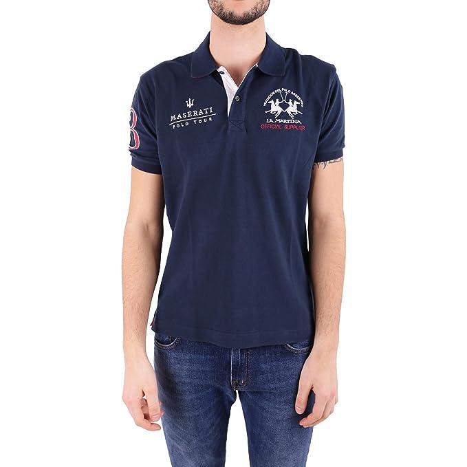 La Martina Hombres Camisa Polo de Piqué Maserati Vlad Marina de ...