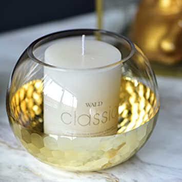 Amazon Cyl Home Hurricane Candleholders Clear Glass With Golden