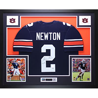 new arrivals b254b de03d Cam Newton Autographed Blue Auburn Jersey - Beautifully ...