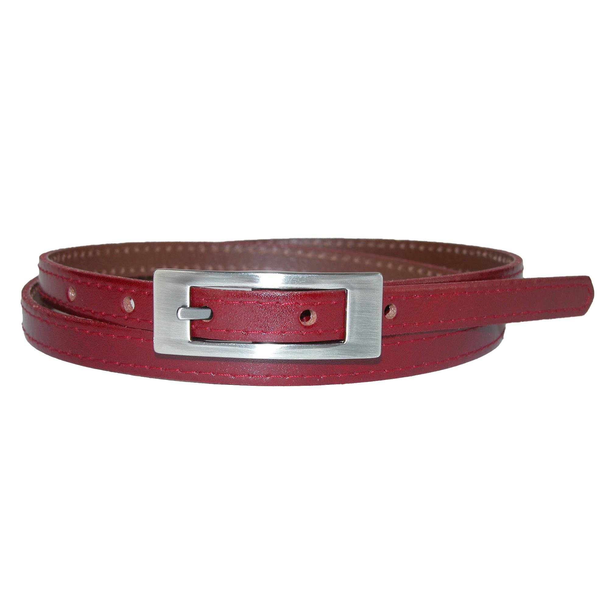 Landes Women's Plus Size Leather Uniform Belt, 44, Red