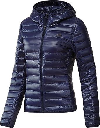 40607137b535 adidas Terrex Damen Daunenjacke Varilite Down Hooded Jacket  Amazon.de   Bekleidung