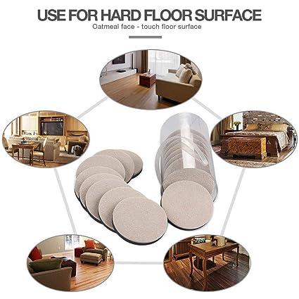 Ezprotekt Protectores de suelo para alfombras madera dura y superficie dura color marr/ón 16 unidades