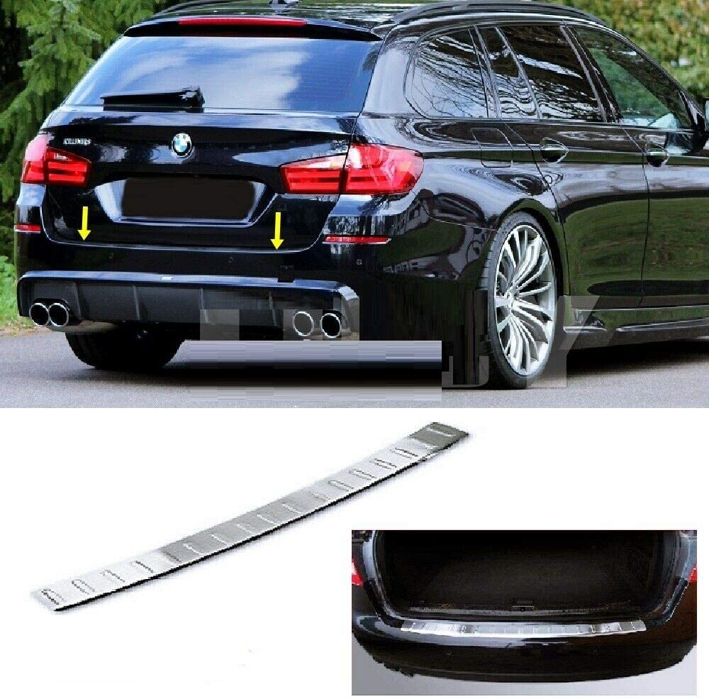 2010-2017 for 5 SERIES F11 ESTATE Stainless Steel CHROME Rear Bumper Protector Scratch Guard Cover