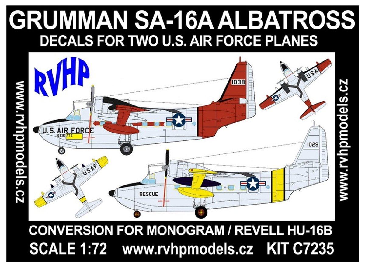 RVHP Models C7235-1//72 Grumman SA-16A Albatross Conversion f.Monogram//Revell