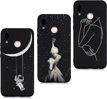 Lot de 3 pi/èces Caricature Fille Gar/çon Femmes TPU Coque iPhone 8 Plus