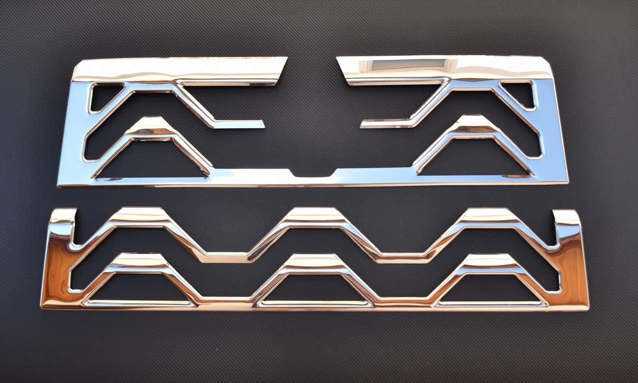 24 7auto 2 Stück 3d Edelstahl Chrom Frontgrill Dekorationen Für T Serie Lkw 2015 Auto