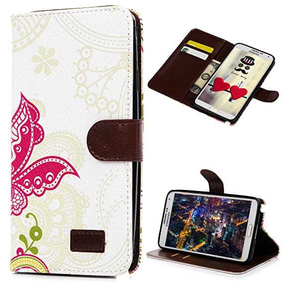 online retailer e6fcd 39060 Note 3 Case, Galaxy Note 3 Case - Mavis's Diary Wallet Type Fashion Style  Flower PU Leather Series Magnet Design Cover with Kickstand Card Holders  for ...