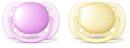 Philips AVENT SCF211/20 - Chupete (Ultra soft pacifier, Ortodóntico, Multicolor, 6 mes(es), 2 pieza(s))