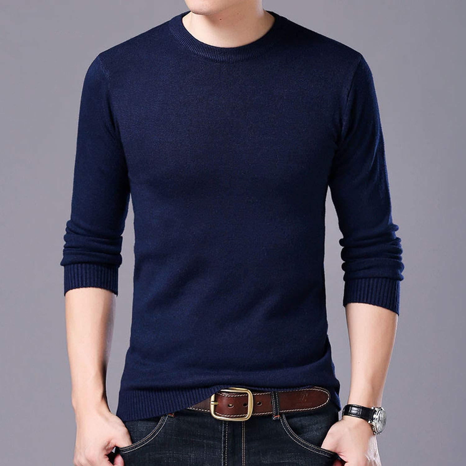 Sweater Men Autumn Winter Warm Knitted Wool Sweaters Casual O-Neck Pull Homme Cotton Pullover Men