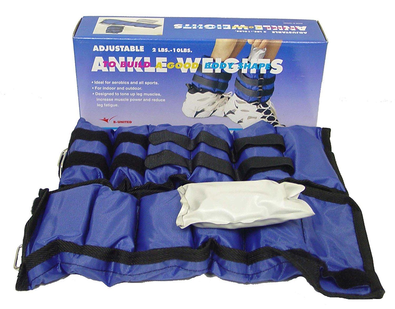 Ader Sporting Goods Ankle Wrist Weights Set (6 Lbs/Pr Adjustable)