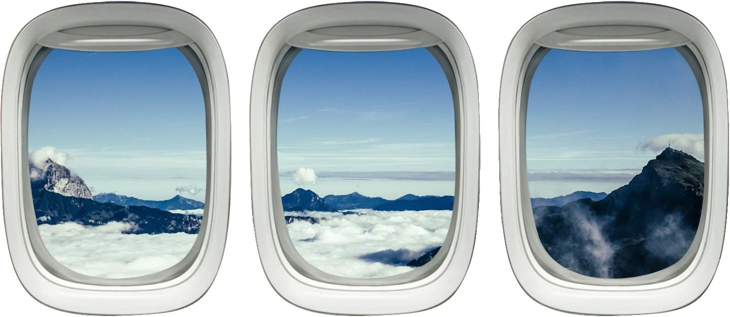 Amazon Com Airplane Window Clings Aviation Decals Stickers Aerial
